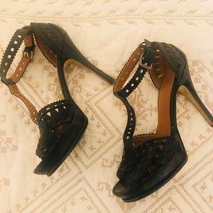 Guess Black Open Toe High Heels